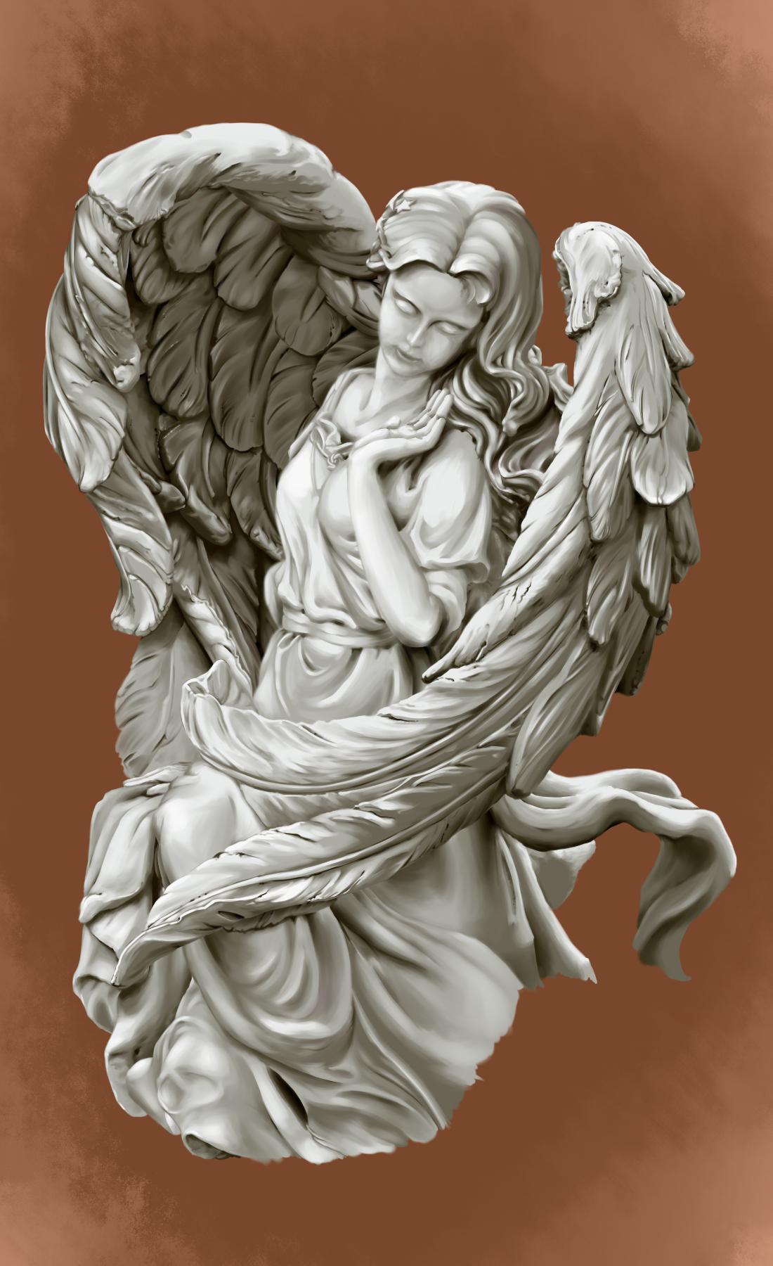 study angel statue by glv da on deviantart