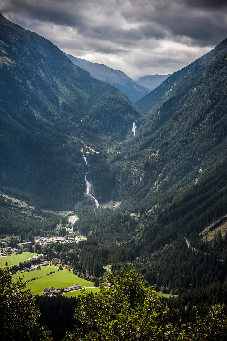Falls in the Austrian Alps by jimloomis