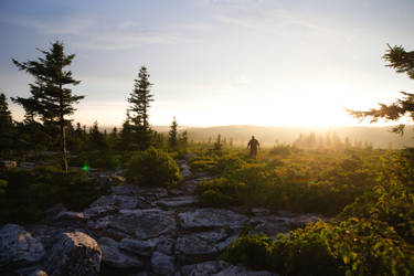 Hiking with a Friend, Dolly Sods Wilderness, WV
