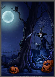 Halloween childrens book illustration by ZAPF-zeichnet