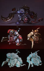 Blizzard All-Stars Undead Abomation by PhillGonzo