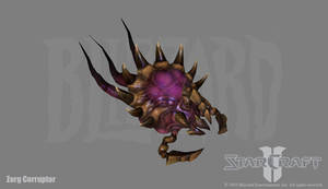 Starcraft 2: Zerg Corruptor by PhillGonzo
