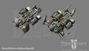 Starcraft 2: Terran Medivac by PhillGonzo