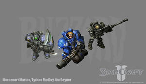 Starcraft 2: Marine variations by PhillGonzo