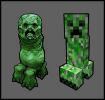 Minecraft Creeper by PhillGonzo