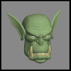 Orc Blademaster Head
