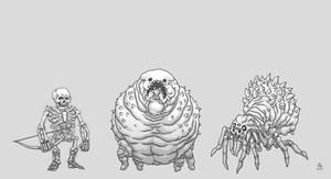 Minecraft Baddies by PhillGonzo