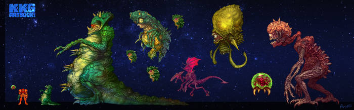 KKG Metroid Bosses by PhillGonzo