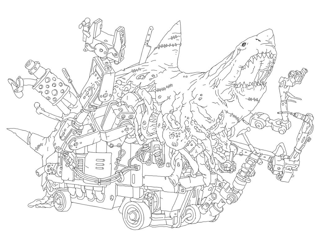 Robot Zombie Shark by PhillGonzo on DeviantArt