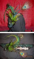Peacock Headdress by enchantress13
