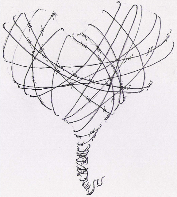 barbed wire heart drawing - photo #5