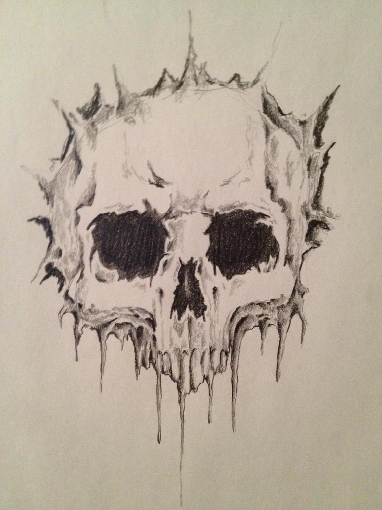 Skull sketch by Cammo7495