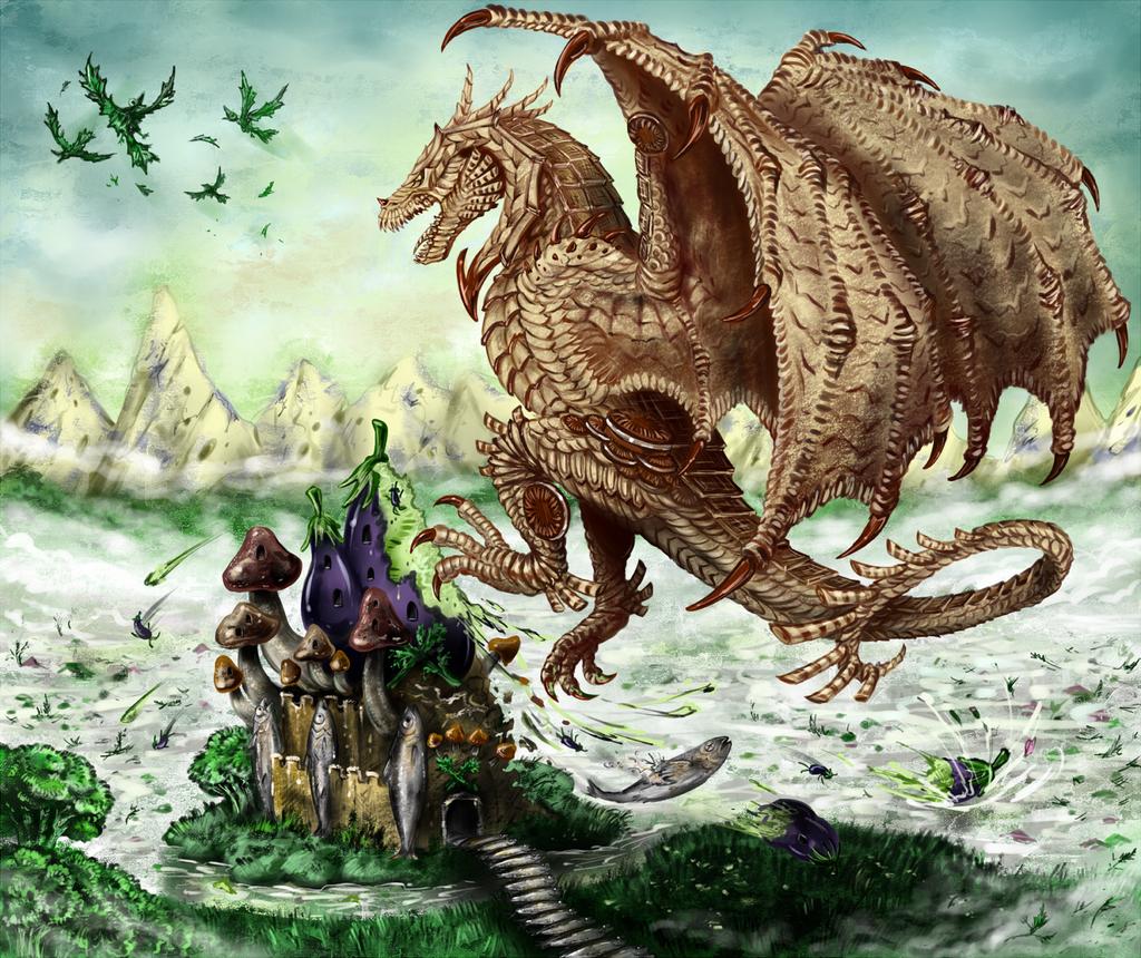 Cookie Dragon by RavenCorona