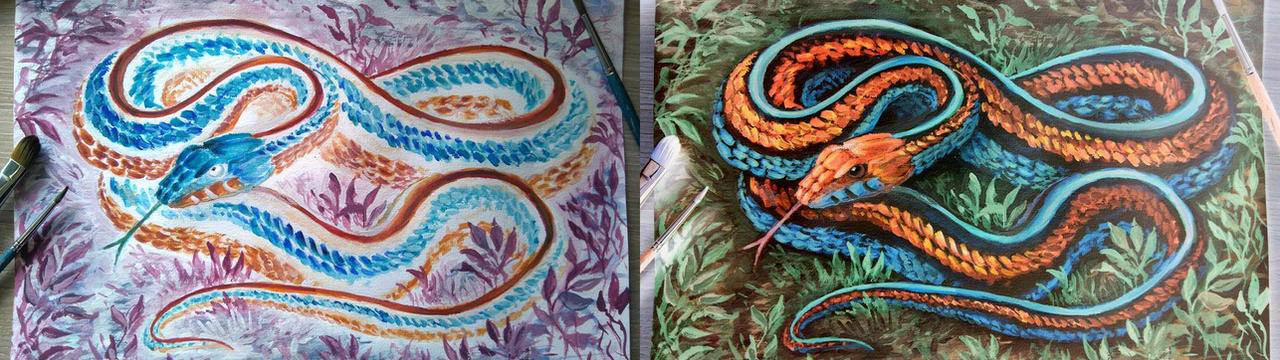 Negative Snake by RavenCorona