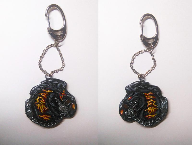 Handmade Ruin keychain by RavenCorona