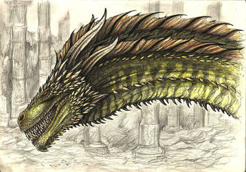 Rhaegal by RavenCorona