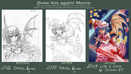 Draw This Again... and again (Remilia Scarlet)