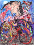 Scarlet Devil Dragons by RavenCorona