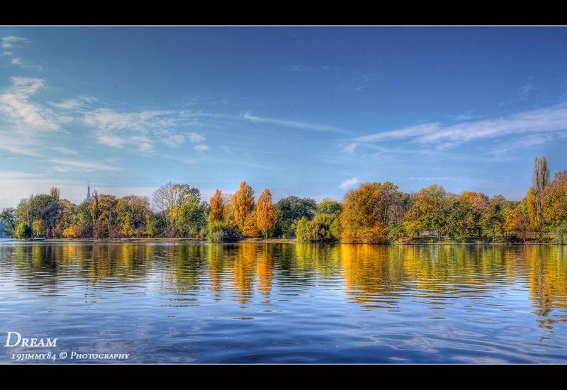 autumn on lake... by Iulian-dA-gallery
