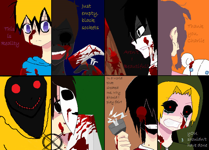 Anime Characters Catchphrases : Slaughter party creepypasta style by death the girl on