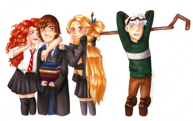 The Big Four in Hogwarts