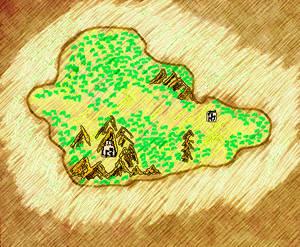Ancient map of Verdok - concept version