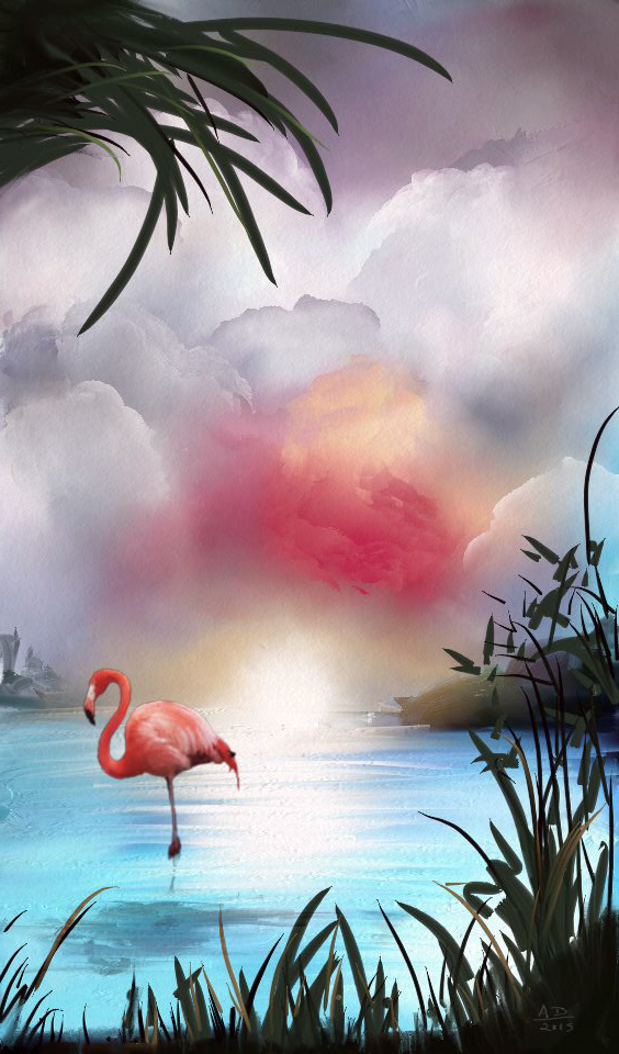 Flamingo by AngeInk