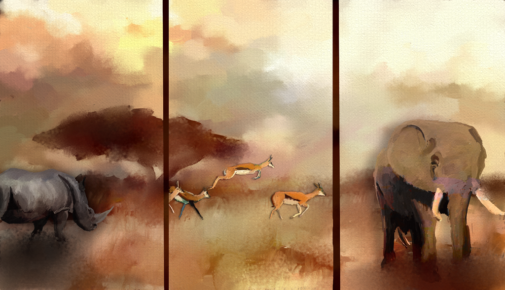 Ghost Plains - Triptych by AngeInk