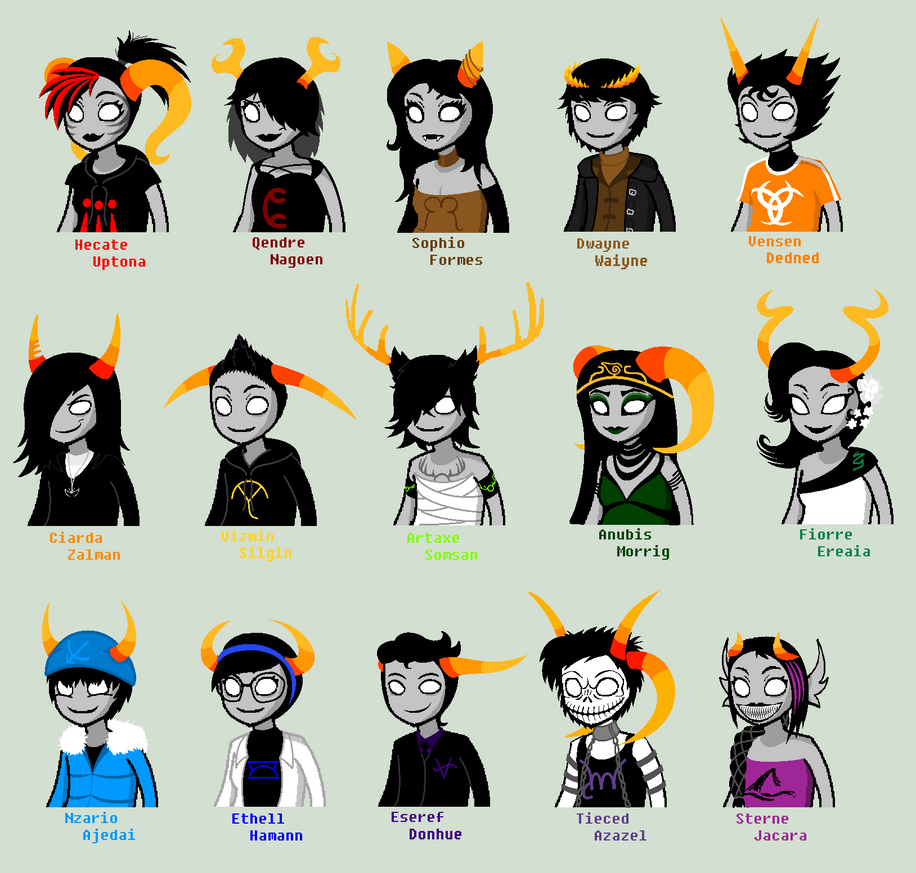 Homestuck Dancestors Kurloz Homestuck Trolls Names...