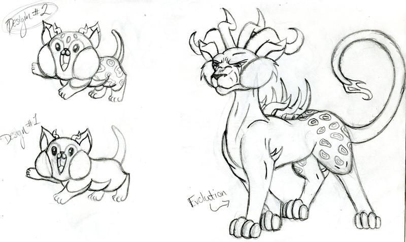 Fakemon Concept #1 by SavannaEGoth