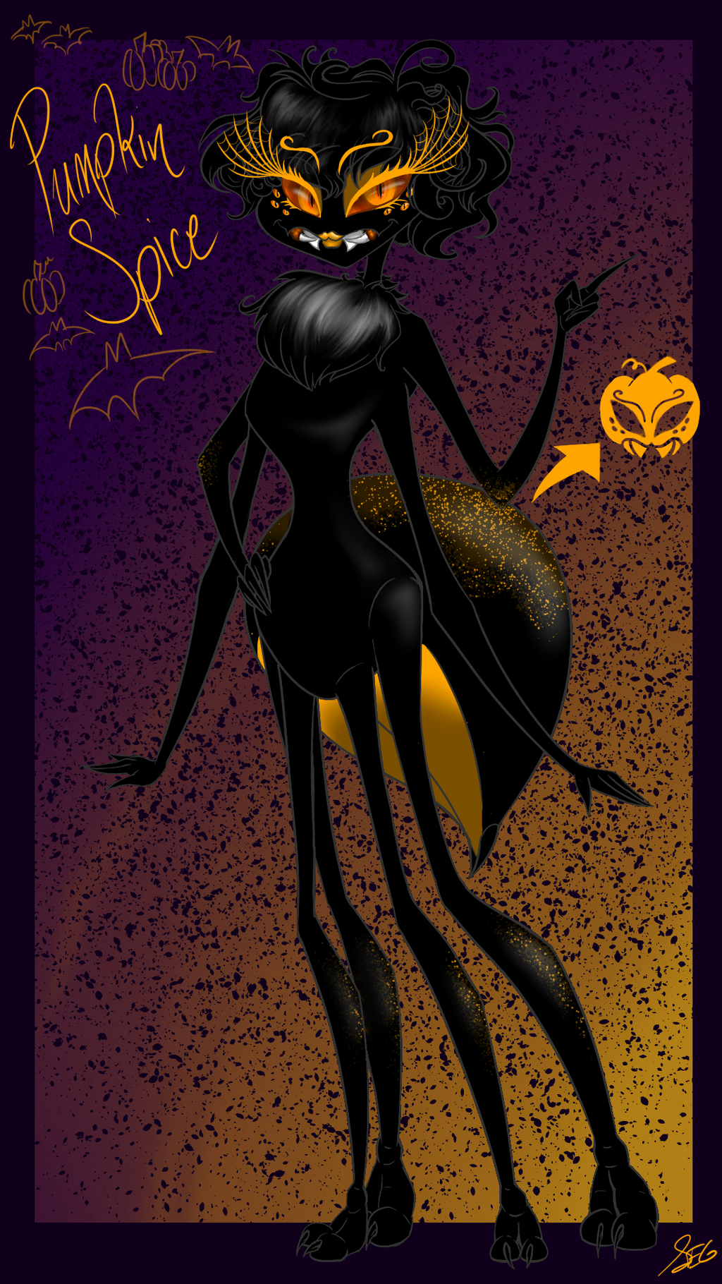Halloween OC - Pumpkin Spice by SavannaEGoth