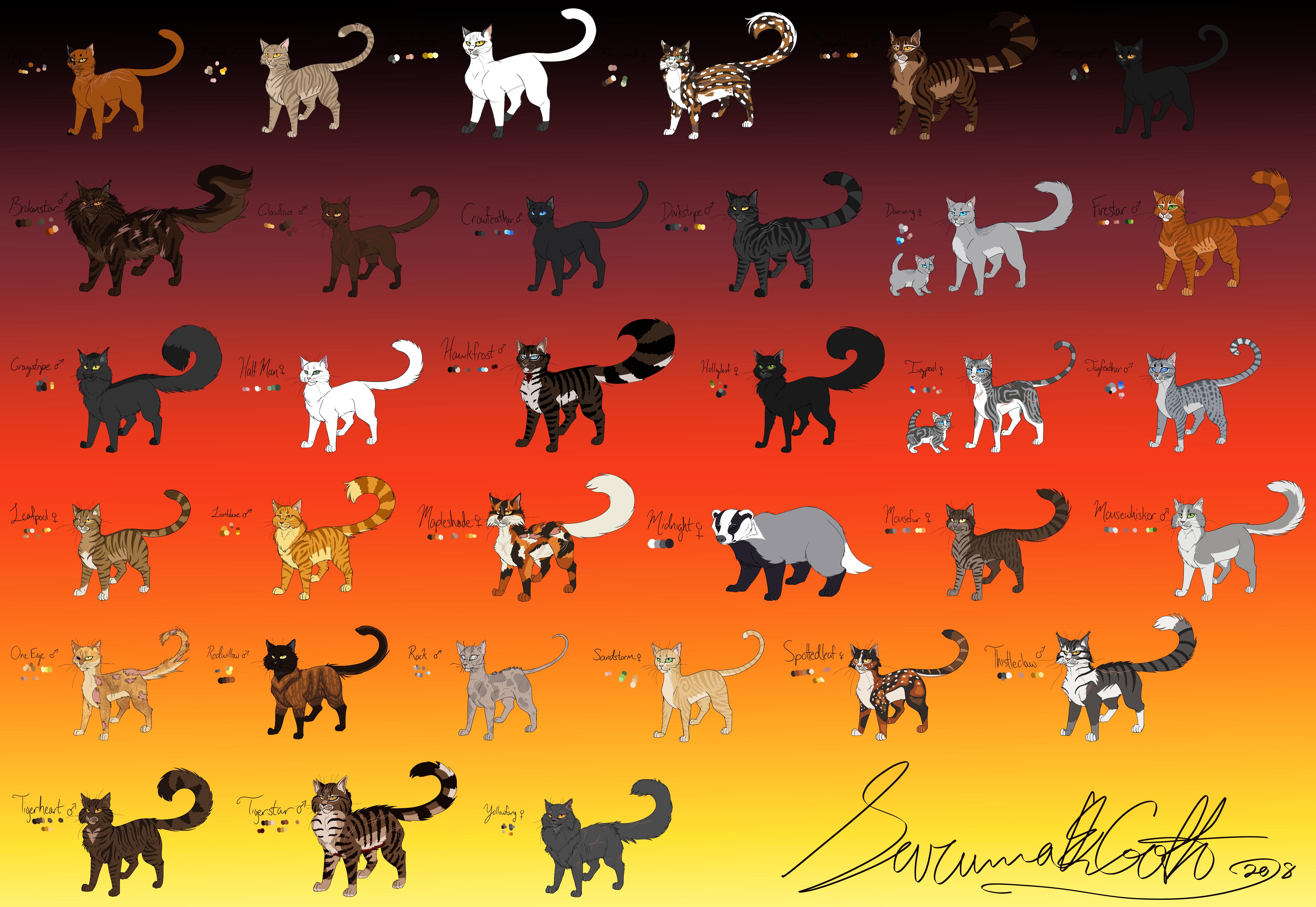 MEGA Warriors Reference Sheet by SavannaEGoth