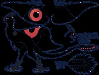 Mothman MYO: Vantablack by DRAGONLOVER101040