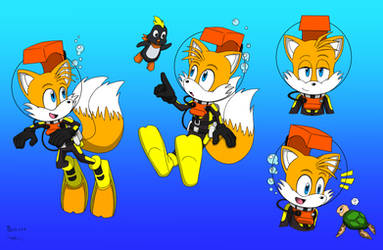 Tails in LAMA Gear (Colored)