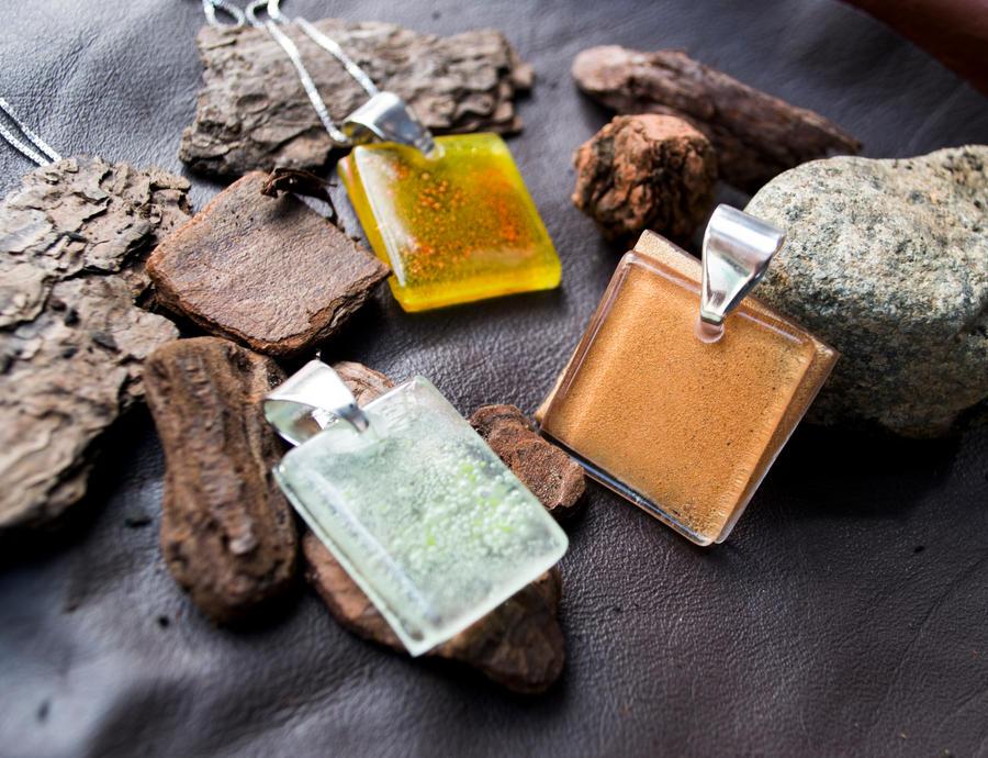 Glass pendants by JuliaMP
