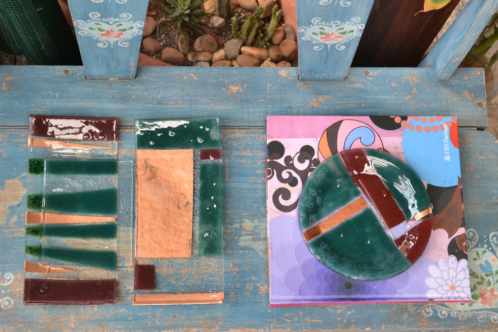 Fused Glass Plates- Geometric by JuliaMP