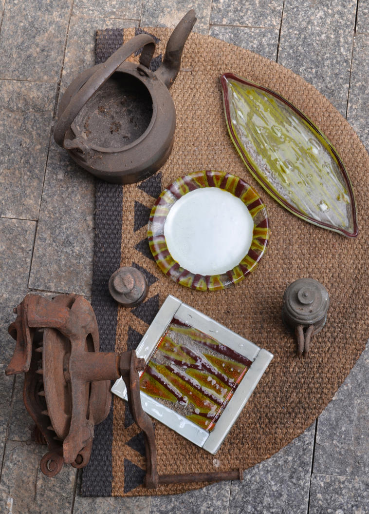 Fused Glass Plates- Savannah by JuliaMP