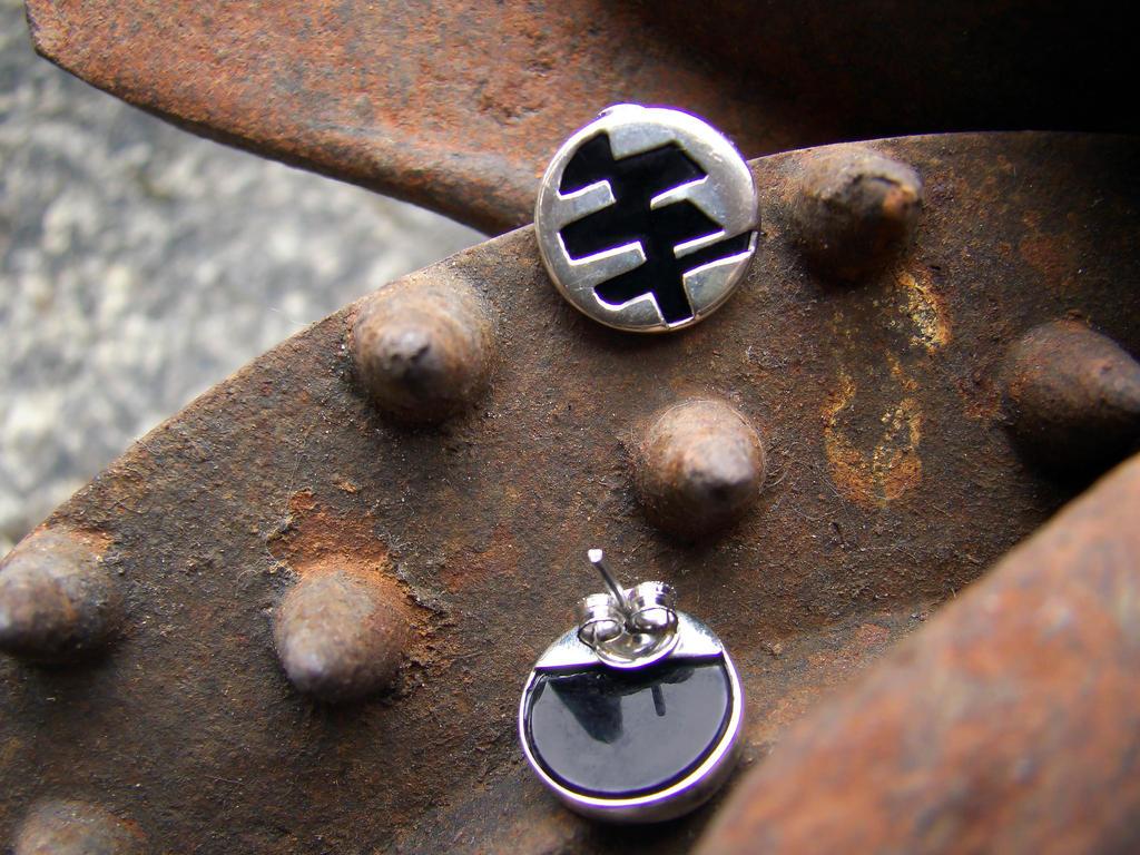 Op earrings by JuliaMP