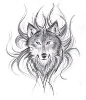 Wolf's Face by believennothing