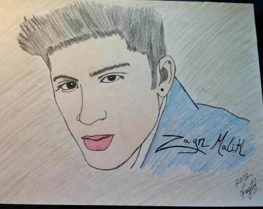 Zayn malik one direction drawing by avengedparabrides
