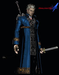 My Vergil design for Devil May Cry 4 by monkeygigabuster