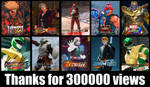 Thanks for 300000 views by monkeygigabuster
