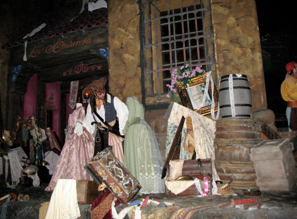 Pirates Ride WDW Inside 2 by WDWParksGal-Stock