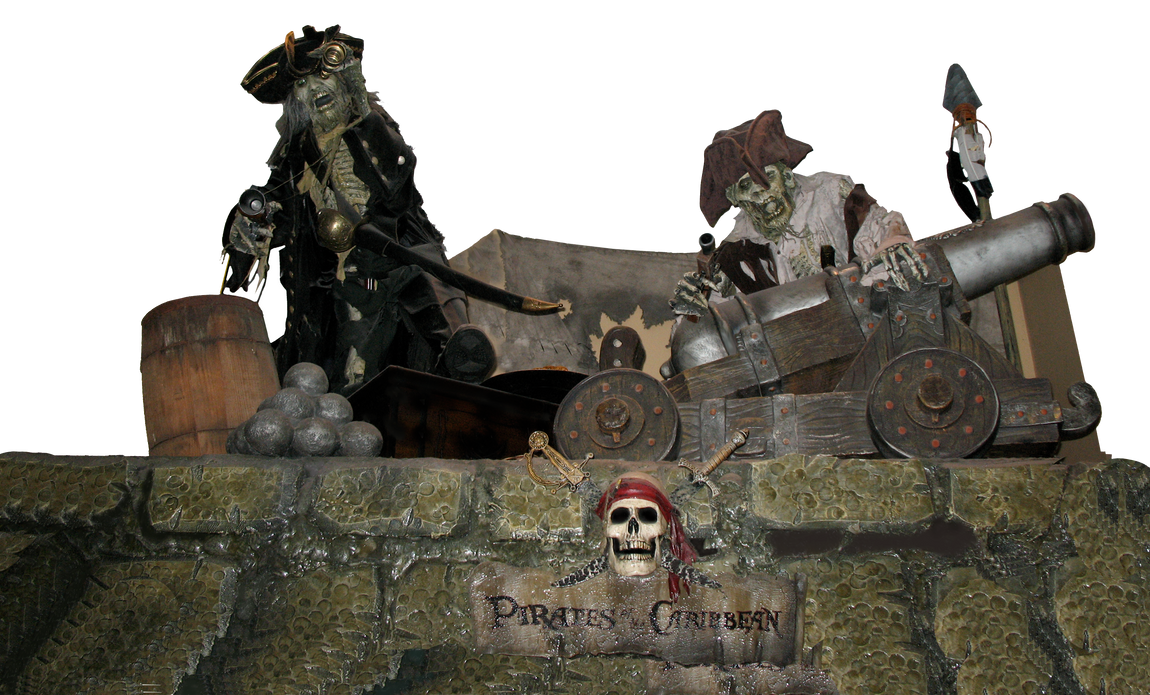Pirates on Stone Wall Display by WDWParksGal-Stock