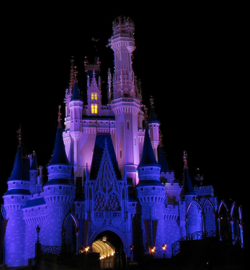 Cinderella Castle Night BkgRem by WDWParksGal-Stock on ...