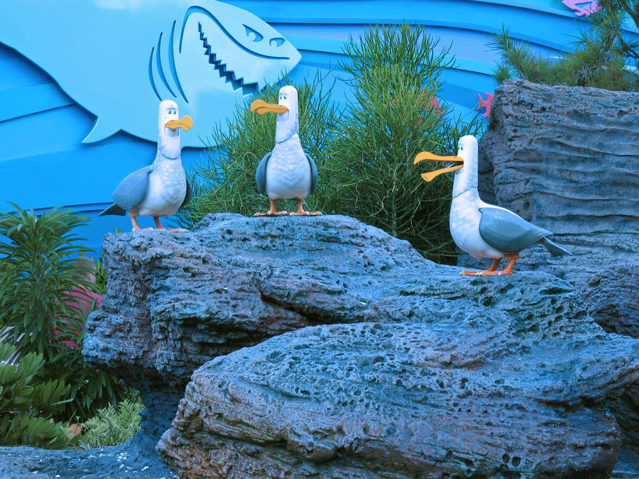 Mine enhanced +repainted gulls by WDWParksGal-Stock