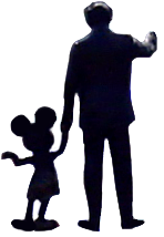 Walt and Mickey Color Burn PNG by WDWParksGal-Stock