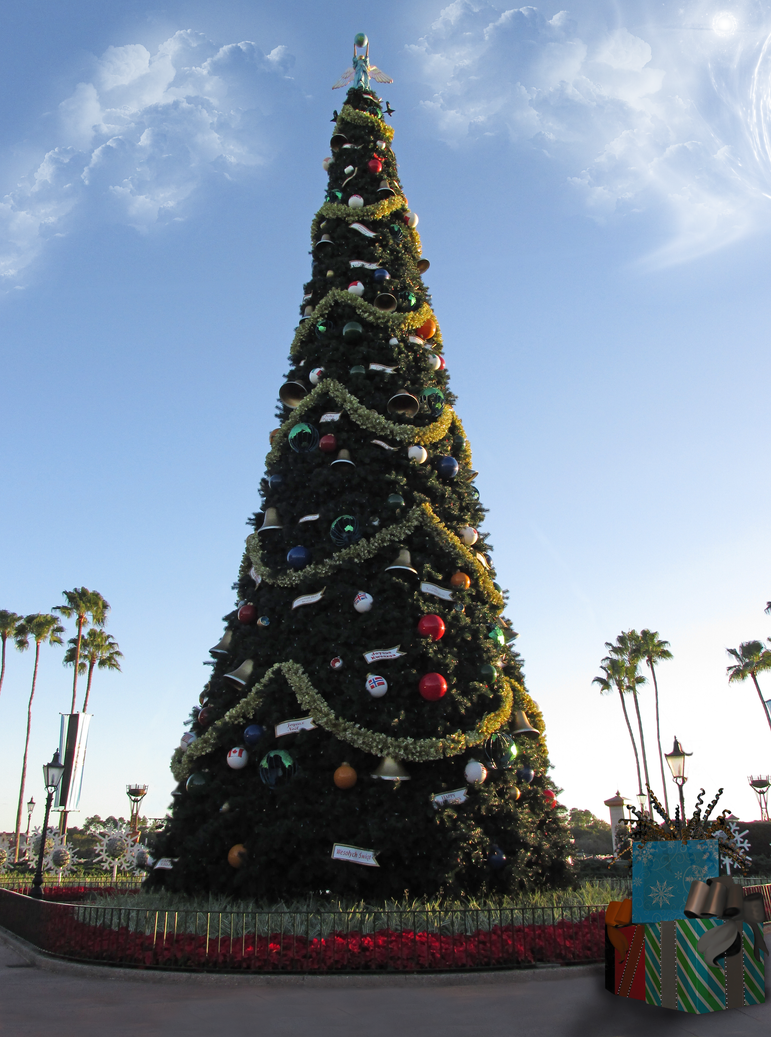 Epcot Christmas Tree Premade by WDWParksGal-Stock