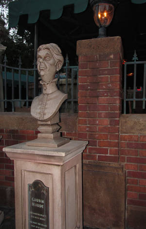Old Lady Bust at the Haunted Mansion by WDWParksGal-Stock