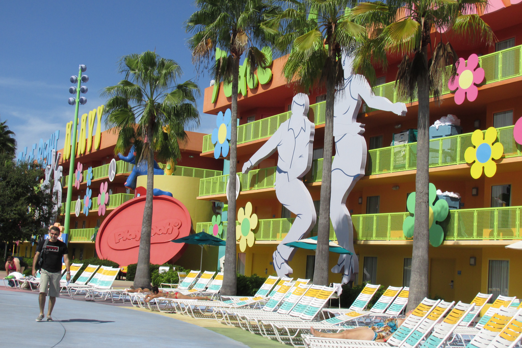 Pool Side Building Where we Stayed at Pop Century by WDWParksGal-Stock